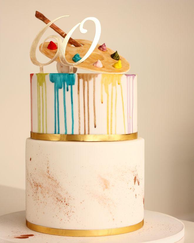 Цветна Торта за рожден ден годишнина за художник