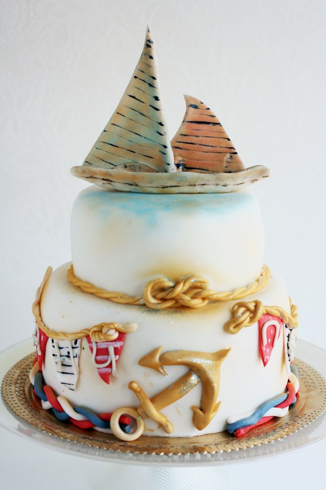 Морска Торта за рожден ден на момче кораб