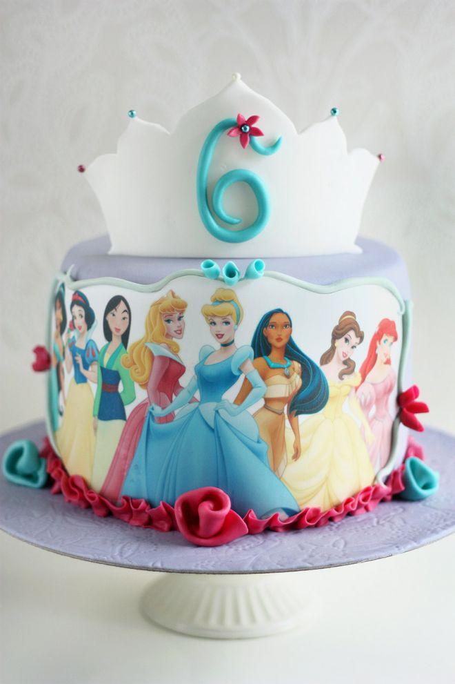 Торта за детски рожден на момиче с принцесите на Дисни