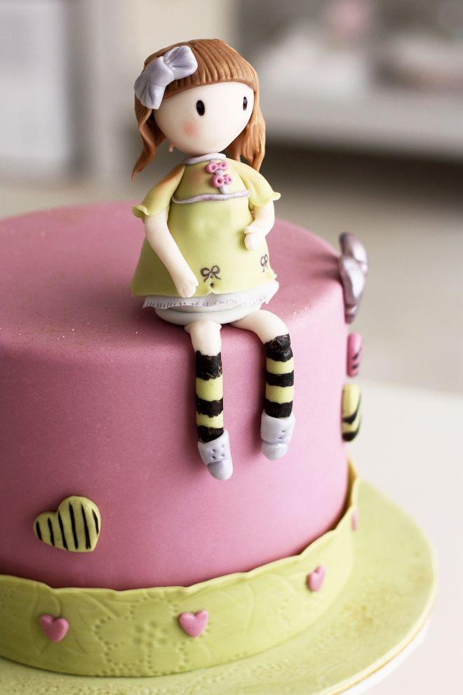 Gorjuss торта с кукла за рожден ден на момиче
