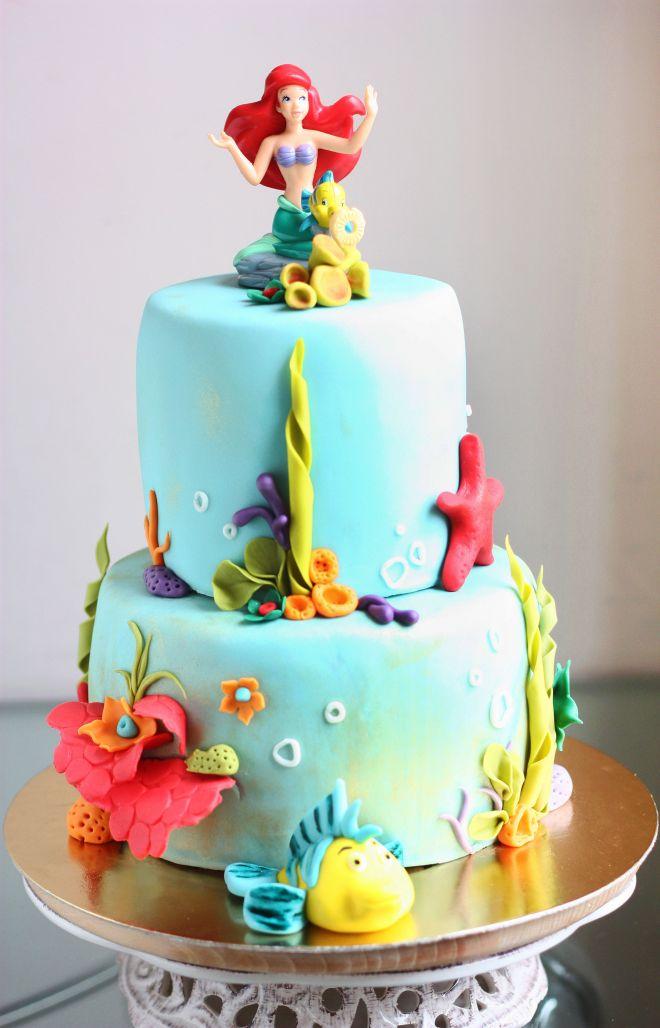 Торта Ариел морско дъно за момиче