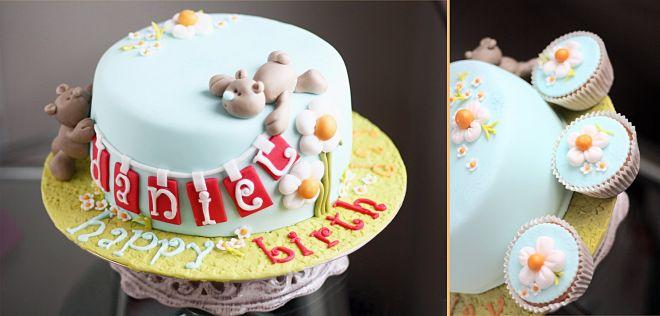 Бебешка торта за момче с мечета