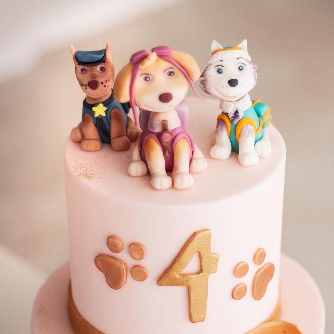 Торта за рожден ден с кученца ПЕС патрул Скай Еверест Чейс