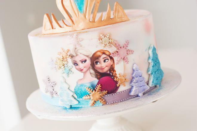 Детска торта с Елза и Ана frozen замръзналото кралство