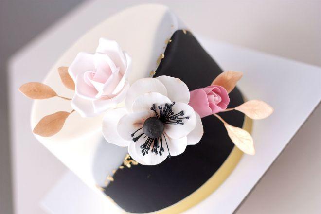 Торта за рожден ден с цветя